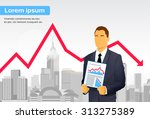 Businessman Finance Graph...
