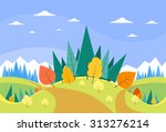 autumn landscape mountain... | Shutterstock .eps vector #313276214