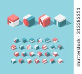 vector isometric cubical... | Shutterstock .eps vector #313283351