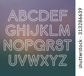 vector linear font in mono line ... | Shutterstock .eps vector #313286639