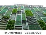 green facade  vertical garden... | Shutterstock . vector #313287029