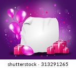 purple pink party background... | Shutterstock . vector #313291265