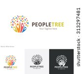people tree  tree logo people... | Shutterstock .eps vector #313297481