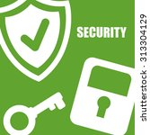 securty system concept  warning ... | Shutterstock .eps vector #313304129