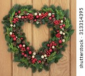 Christmas Heart Shaped Wreath...