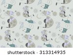 seamless floral pattern with... | Shutterstock .eps vector #313314935