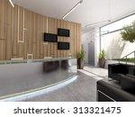 3d rendering of an office... | Shutterstock . vector #313321475