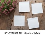 notes of paper stuck on a... | Shutterstock . vector #313324229
