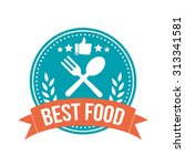 best food round banner badge | Shutterstock .eps vector #313341581