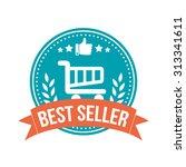 best seller round banner badge | Shutterstock .eps vector #313341611