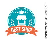 best shop round banner badge | Shutterstock .eps vector #313341677