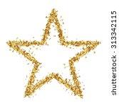 star shaped golden confetti... | Shutterstock . vector #313342115