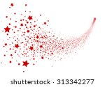 abstract falling star vector  ... | Shutterstock .eps vector #313342277