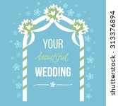 vector illustration of wedding... | Shutterstock .eps vector #313376894