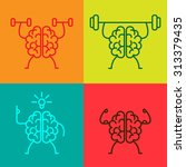 brain power icons | Shutterstock .eps vector #313379435
