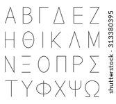 greek alphabet letters  font... | Shutterstock .eps vector #313380395