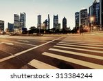 urban city at night with...   Shutterstock . vector #313384244