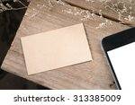 recycled paper identity mock up ... | Shutterstock . vector #313385009