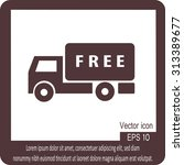 delivery sign icon   Shutterstock .eps vector #313389677
