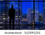 Silhouette Of A Business Man...