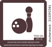 the bowling icon. game symbol.   Shutterstock .eps vector #313392581