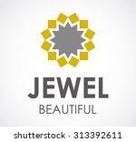 jewelry beauty circle flower...   Shutterstock .eps vector #313392611