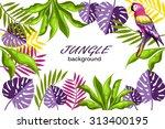 decorative jungle   Shutterstock .eps vector #313400195