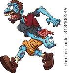angry cartoon zombie. vector... | Shutterstock .eps vector #313400549