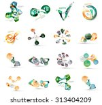 set of various geometric icons  ... | Shutterstock .eps vector #313404209