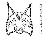 a lynx head logo. this is... | Shutterstock .eps vector #313405241