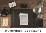 1950s style office with a... | Shutterstock . vector #313416341