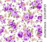 rose flower pattern | Shutterstock .eps vector #313418915