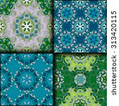vector seamless pattern set... | Shutterstock .eps vector #313420115