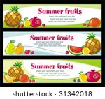 fruit banners.  to see similar  ... | Shutterstock .eps vector #31342018
