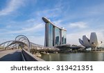 singapore skyline and view of... | Shutterstock . vector #313421351