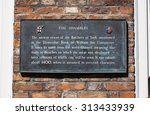 a plaque detailing the history...