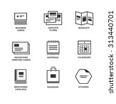 icons of various print media.... | Shutterstock .eps vector #313440701
