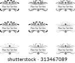 calligraphic design elements... | Shutterstock .eps vector #313467089