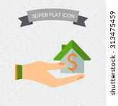 icon of house with dollar sign... | Shutterstock .eps vector #313475459