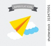 icon of paper plane flying in...   Shutterstock .eps vector #313475501