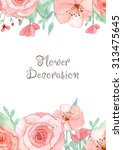 flower wedding invitation card  ... | Shutterstock . vector #313475645