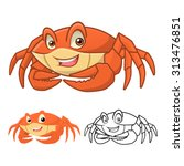 high quality crab cartoon... | Shutterstock .eps vector #313476851