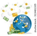 business  money profits and... | Shutterstock .eps vector #313481105
