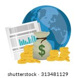 business  money profits and... | Shutterstock .eps vector #313481129
