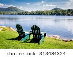 Adirondack Chairs. Mirror Lake...