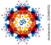 modern yoga mandala  tribal... | Shutterstock .eps vector #313484531