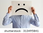 unhappy employee or demotivated ... | Shutterstock . vector #313495841