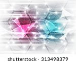 abstract vector technology... | Shutterstock .eps vector #313498379