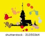 vector background with maiden... | Shutterstock .eps vector #31350364