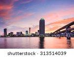 Kobe, Japan skyline at the Port - stock photo